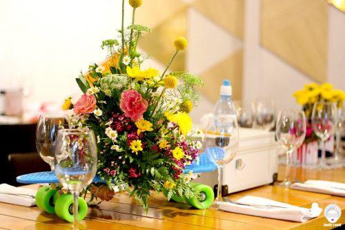 עיצוב שולחן כחלק מהפקת חתונה בגלריה דובנוב